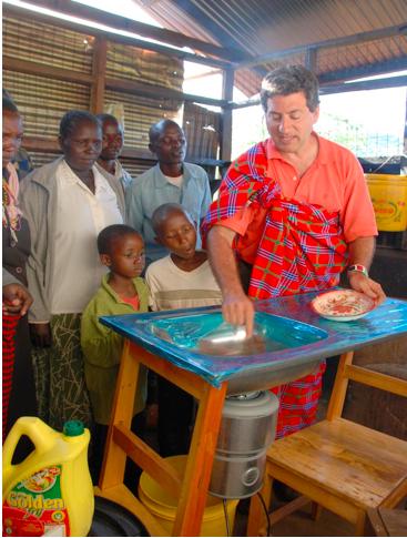Using an Insinkerator food waste grinder in Kakenya's Dream School