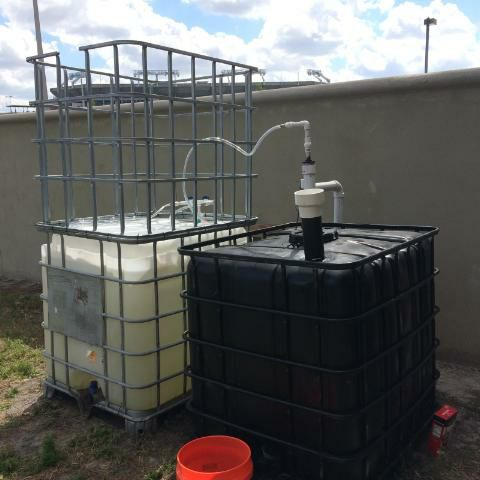 Hillsborough Community College builds Solar CIITES floating tank biodigester for Earth Day!