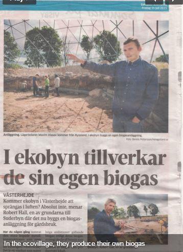 Suderbyne Ecovillage creates Europe's first Solar CITIES Puxin Digestor