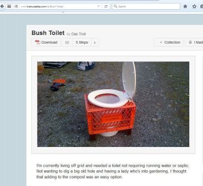 Bush toilet from instructables