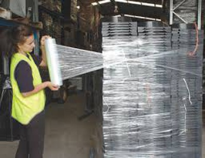 Stretch wrap in a warehouse