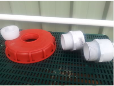 Threaded IBC cap