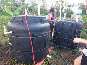 Envisaj Mercy built the Dominican Republic's first Solar CITIES IBC/ARTI Hybrid biodigester at Batey Relief Alliance