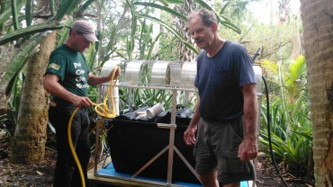 Home Biogas and Solar CITIES water tank biodiigester builds at Sacred Lands