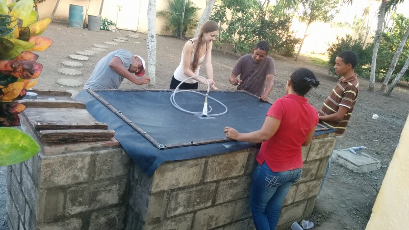 Envisaj Mercy -- the Mercy College Environmental Sustainability and Justice League -- builds its first Hestia Home Biogas system in the Dominican Republic