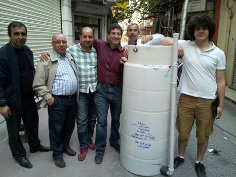 The Istanbul street market biogas team and Turkey's first ARTI system which we built  with Yaşat Hacıbaloğlu.